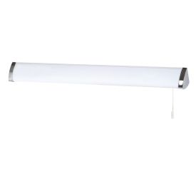 Ip44 Chrome Triangular Wall Light With T5 Fluorescent Tube, Polycarbonate Shade