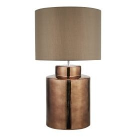 Artisan 1lt Bronze Table Lamp, Brown Shade