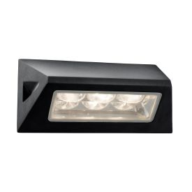 Die Cast Aluminium Black Ip44 Led Outdoor Oblong Wall Light