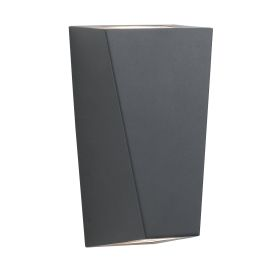 Black Ip44 2 Light Outdoor Wall Bracket With Frosted Glass