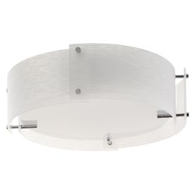 Chrome 3 Light Semi-flush Fitting With Frosted Glass Panels