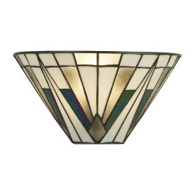 Gatsby, Tiffany Wall Light Bronze/black/clear/white/multi