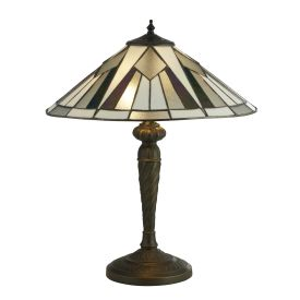 Gatsby, Tiffany Table Lamp Bronze/black/clear/white/multi