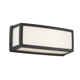 Aluminium Outdoor Led Oblong, Dark Grey, Opal, Polycarbonate Diffuser Wb/flush