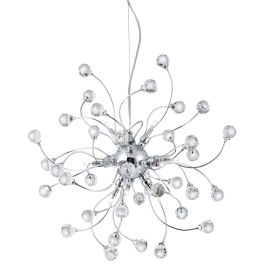 Sonja Chrome 12 Light Fitting With Sparkling Crystal Balls Decoration