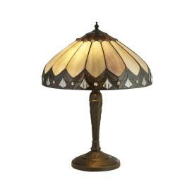 Pearl Bronze/clear/brown/purple Tiffany Table Lamp