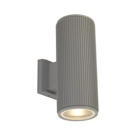 Outdoor Up/down Wall/porch Light - Grey With Clear Glass