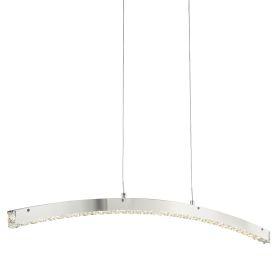 Clover Chrome, Led Curved Bar, Clear Crystal Glass, Adjustable Height