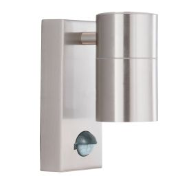 Stainless Steel Silver Ip44 Outdoor Light With Motion Sensor