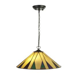 Charleston - Tiffany 2lt Pendant Yellow/multi