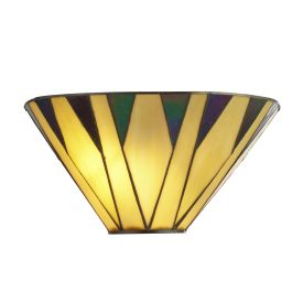 Charlston, Tiffany Wall Light, Yellow/multi