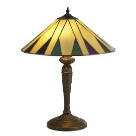Charleston Tiffany Table Lamp Yellow Multi