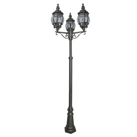 Bel Aire Die Cast Aluminium 3 Light Black Outdoor Post Lamp