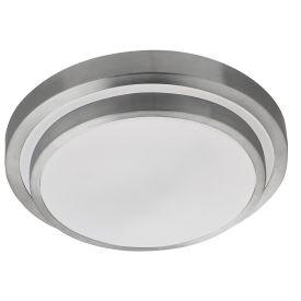 Triple (acrylic) White Led Ip44 Flush Fitting With Aluminium Trim
