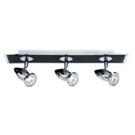 Comet Die Cast Aluminium Chrome & Black 3 Light Spotlight Bar, Adjustable Heads