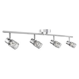 Mesh Spot Ii 4 Light Adjustable Bar Spotlight With Chrome Loop Shades
