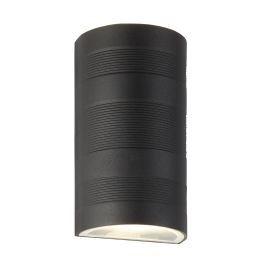 Outdoor Up/down Led Curved Wall Bracket, Black