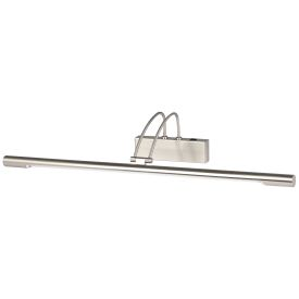 Satin Silver Picture Light With Adjustable Head, Switched