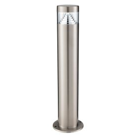Stainless Steel Ip44 30 Led Outdoor Post Light With Clear Polycarbonate Diffuser