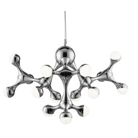 Dna Chrome 15 Led Ceiling Light With Half Dome Shades