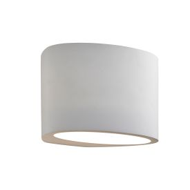 G9 Oval White Plaster Wall Light