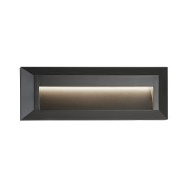 Outdoor 1 Light Led Slot Wall Light, Dark Grey Ankle