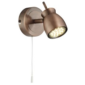 Jupiter Antique Copper Wall Spotlight
