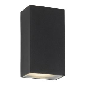 Die Cast Aluminium Outdoor Up/down Led Rectangle Wall Bracket, Black