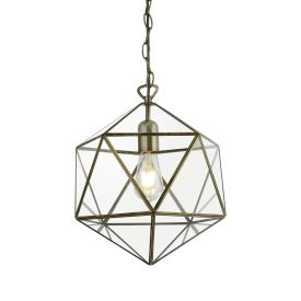 Kinetic 1lt Terrarium Prisim Shaped Pendant, Ab