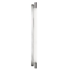 Large Ip44 Chrome T5 Oblong Wall Light With Circular White Glass
