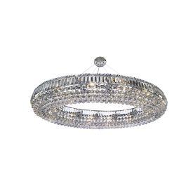 Vesuvius Chrome Oval 24 Light Crystal Fitting, K9 Crystal