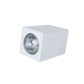 Plaster Rectangle Flush Ceiling Light, Paintable