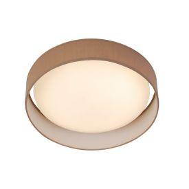 1 Light Led Flush Ceiling Light, Acrylic, Brown Shade