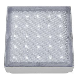 Stainless Steel Ip68 25 Led Recessed Square Walkover With White Led Light