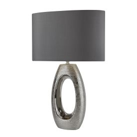Artisan 1lt Chrome Oval Base Table Lamp