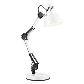 Desk Partners Shiny White Hobby Table Lamp