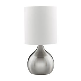 Touch Table Lamp Satin Silver