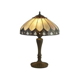 Pearl Bronze/black/clear/brown/purple Tiffany Table Lamp