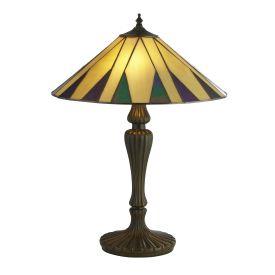 Charleston Bronze/black/yellow/multi  Tiffany Table Lamp