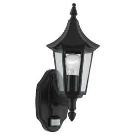 Bel Aire Ip44 Black Outdoor Wall Lights With Sensor (pack Of 6)