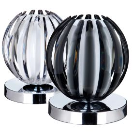 Chrome Touch Table Lamps (pack Of 12 - 6 Clear & 6 Smokey Acrylic)