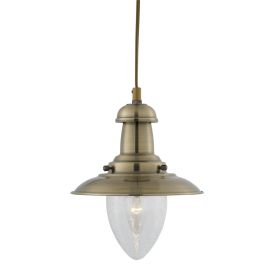 Fisherman Antique Brass Ceiling Lights With Seeded Glass (pack Of 6)
