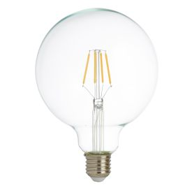Led Lamps Pack X 5 - Led Filament Globe Lamp (125mm) Clear Glass, E27 6w, 600lm