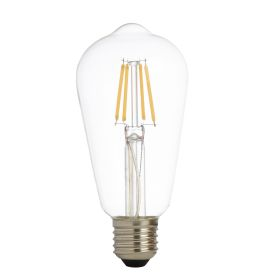 Pack X 5 - Led Filament Squirrel Lamp, Clear Glass, E27 6w, 600lm 3000k