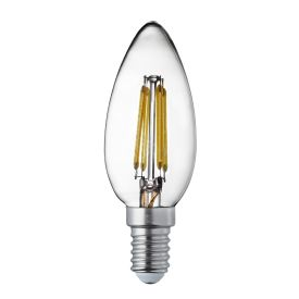 Pack X 10 - Dimmable E14 Led Filament Candle Lamp - 4.5w, 400lm, Warm White 2700