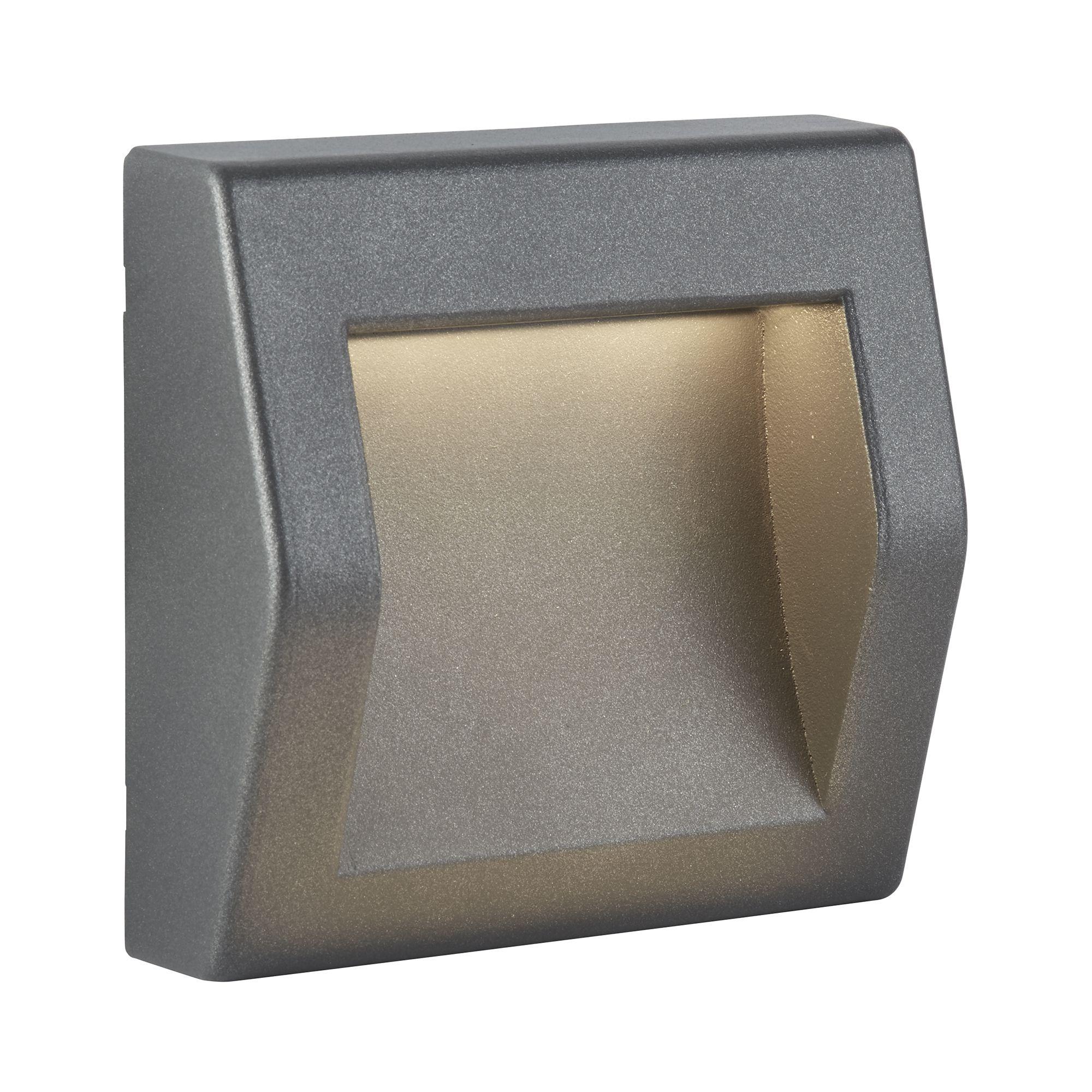 Die Cast Aluminium Ip54 Outdoor Large Led Dark Grey Wall Lights