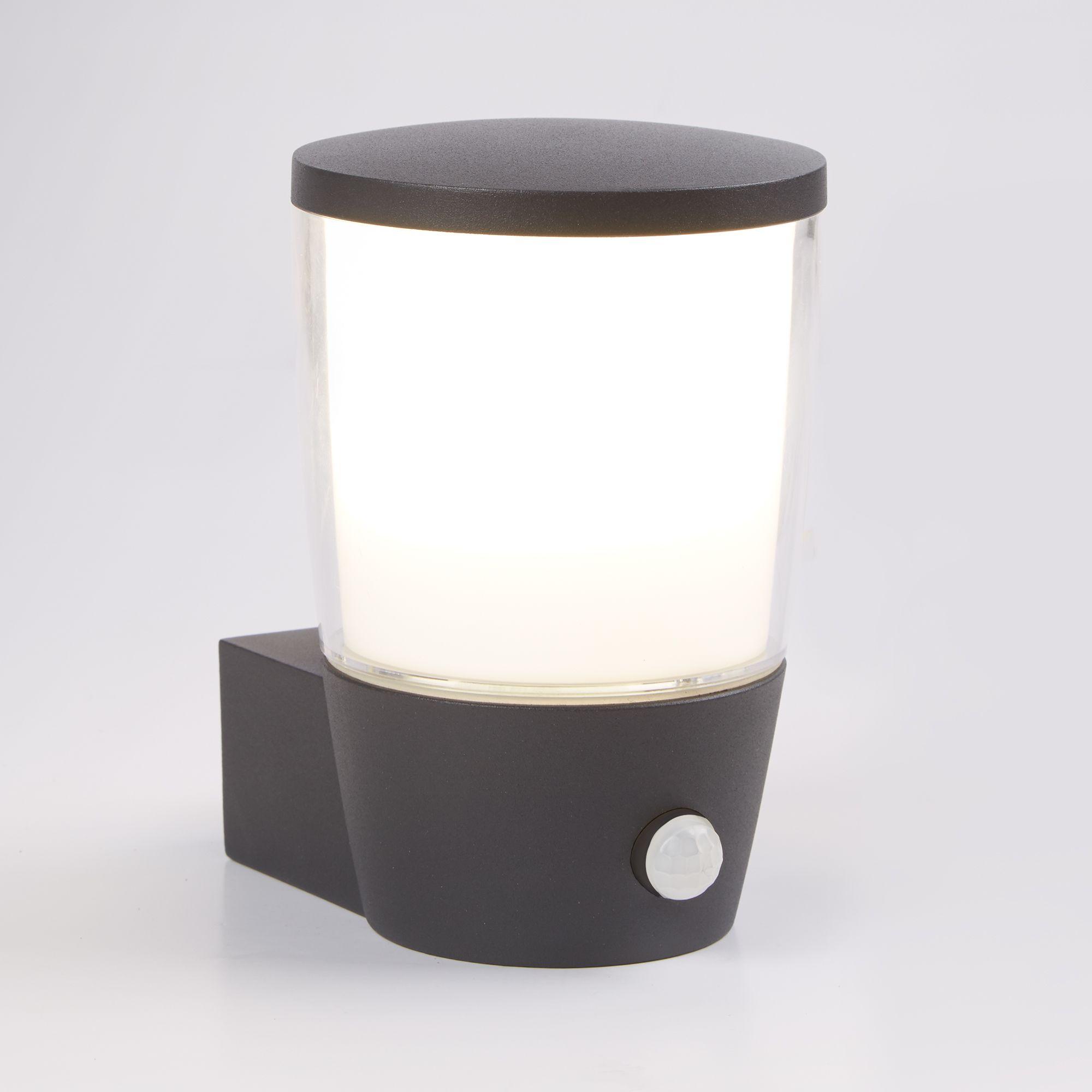 Searchlight 1076-730 IP44 Black Bollard Light With Glass Diffuser