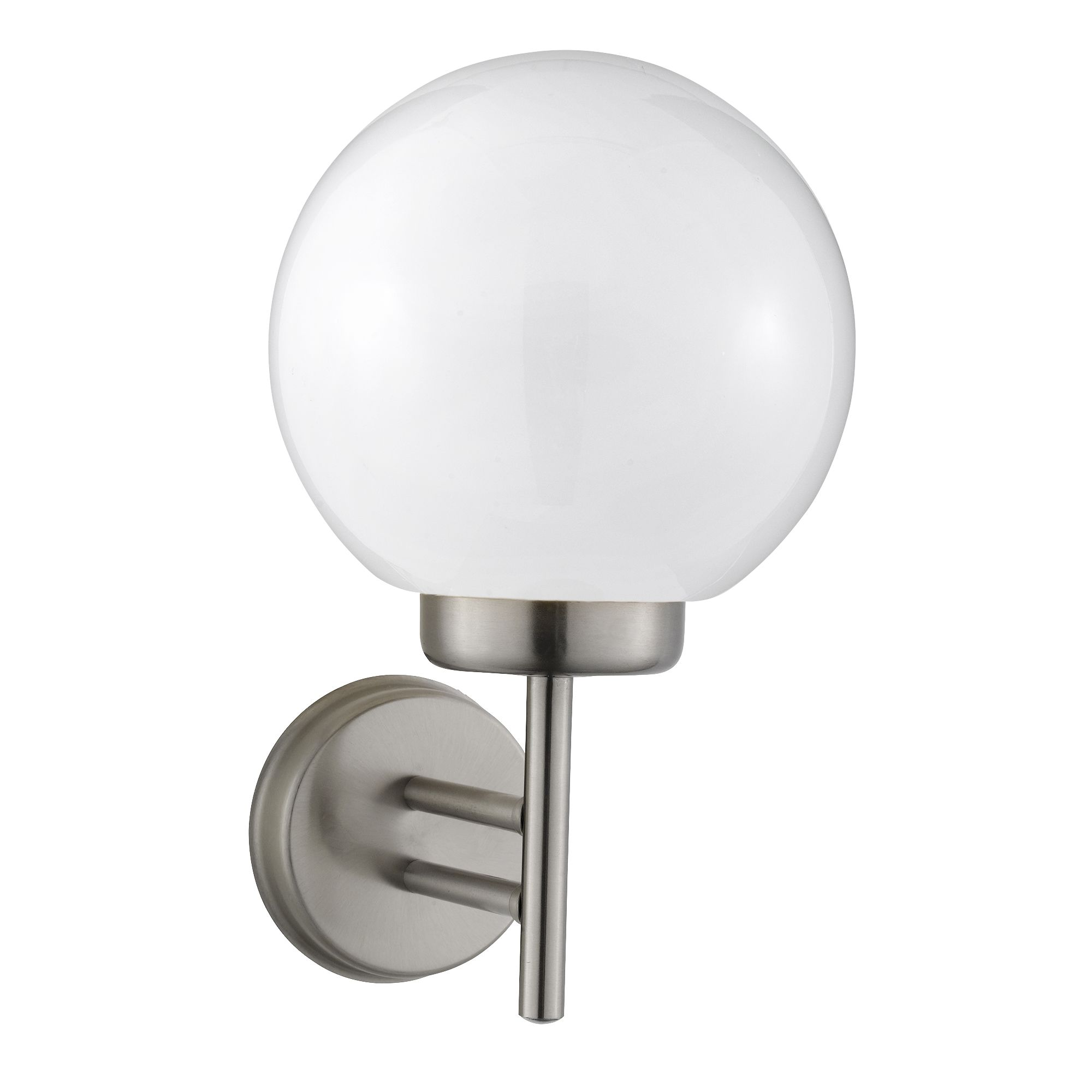 Orb Outdoor Wall Bracket, Stainless Steel, Polycarbonate Shade