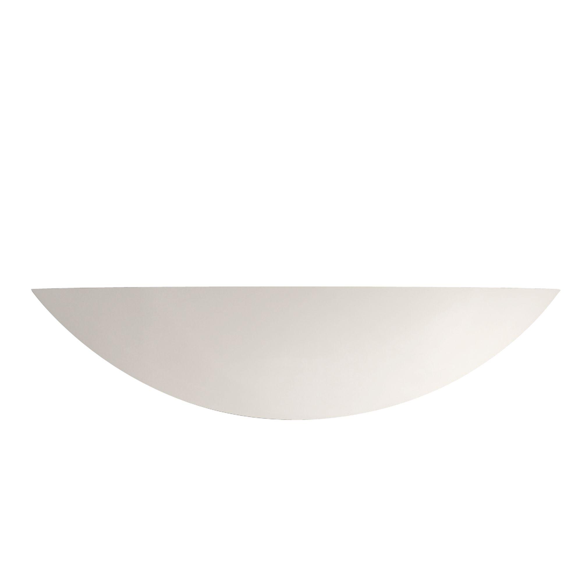 White Ceramic Uplighter Paintable Wall Light