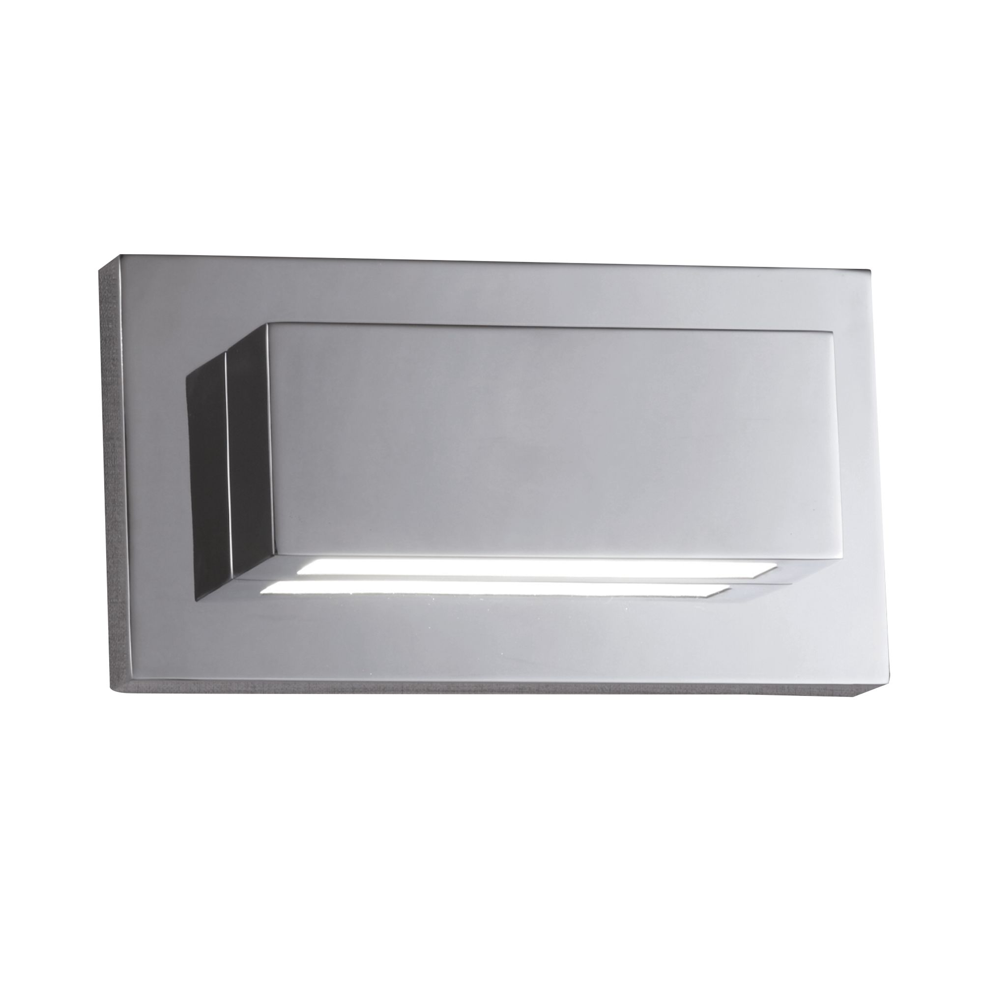 Chrome 2 Led Oblong Wall Light With Up & Down Light